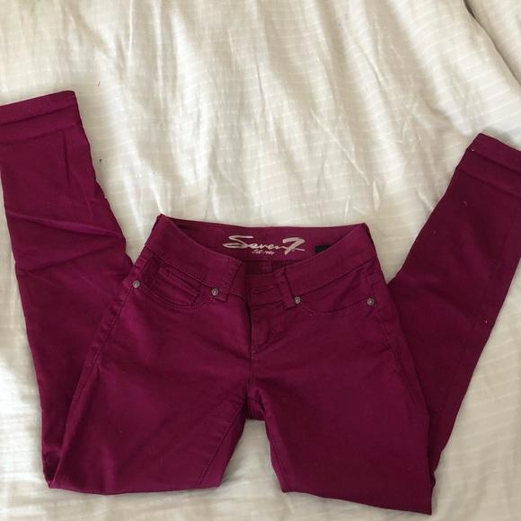 Seven7 Denim - 7 seven jeans pants magenta